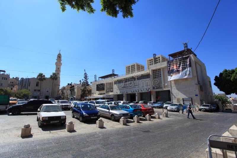 Quadrado do comedoiro, centro da cidade de Bethlehem imagens de stock royalty free