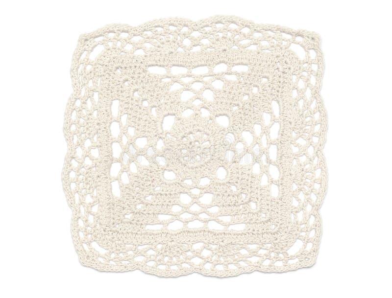 Doily do Crochet - branco fotos de stock royalty free