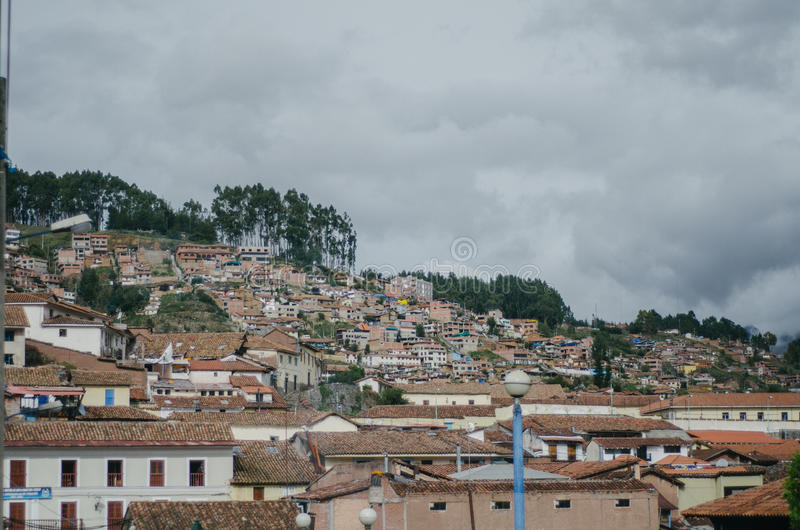 Quadrado do guerreiro, Cusco fotografia de stock royalty free