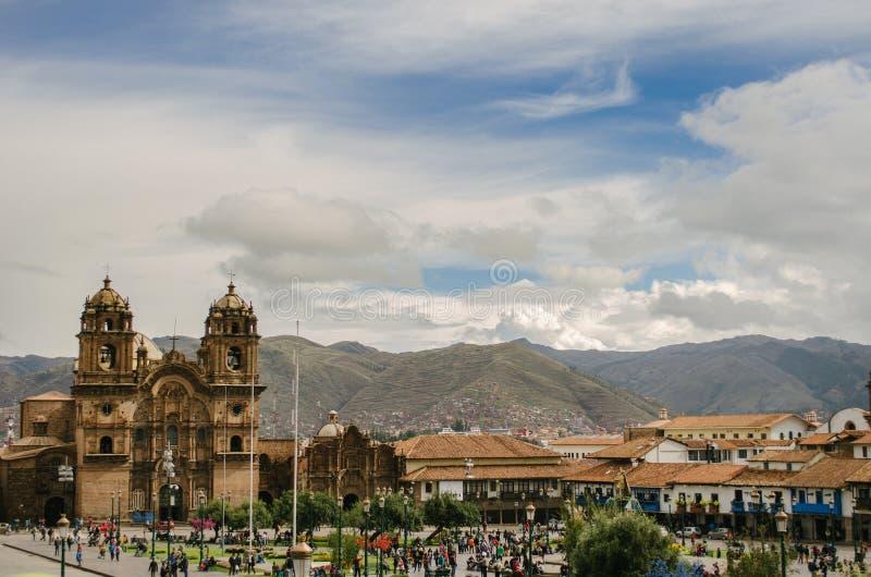 Quadrado do guerreiro, Cusco imagens de stock