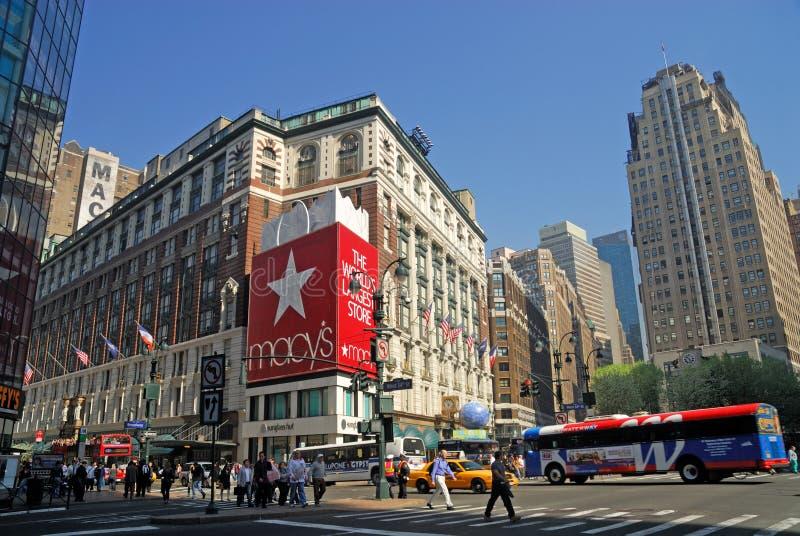 Quadrado do Herald, New York City imagens de stock