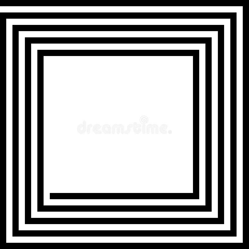 Quadrado do labirinto ilustração do vetor