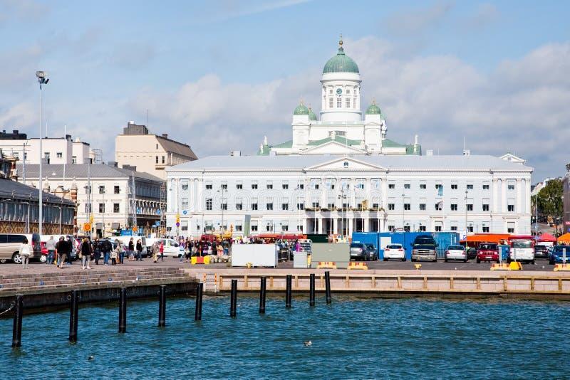 Quadrado do mercado, cidade salão e catedral foto de stock royalty free