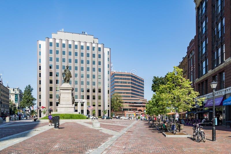 Quadrado do monumento em Portland Maine fotos de stock