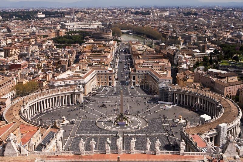 Quadrado do St. Peters, Roma. imagens de stock