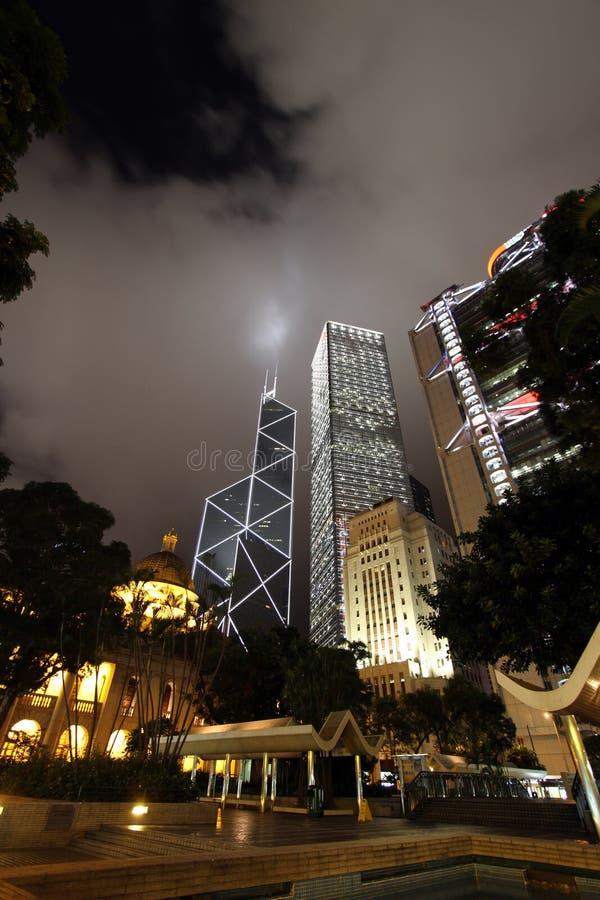 Quadrado do status, central, Hong Kong fotos de stock