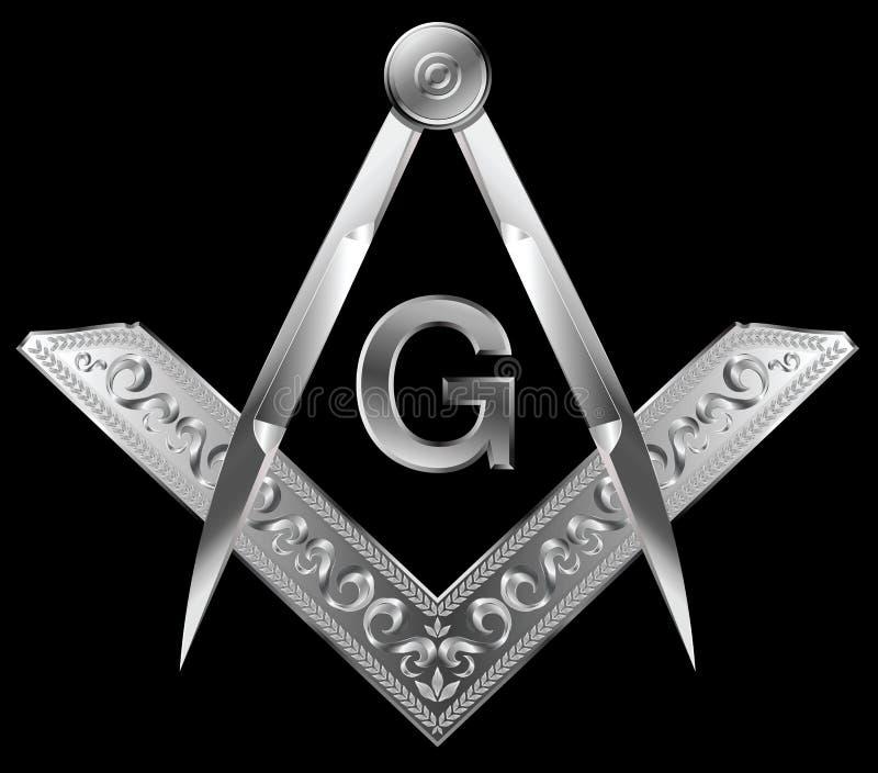 Quadrado e compasso maçónicos ilustração royalty free