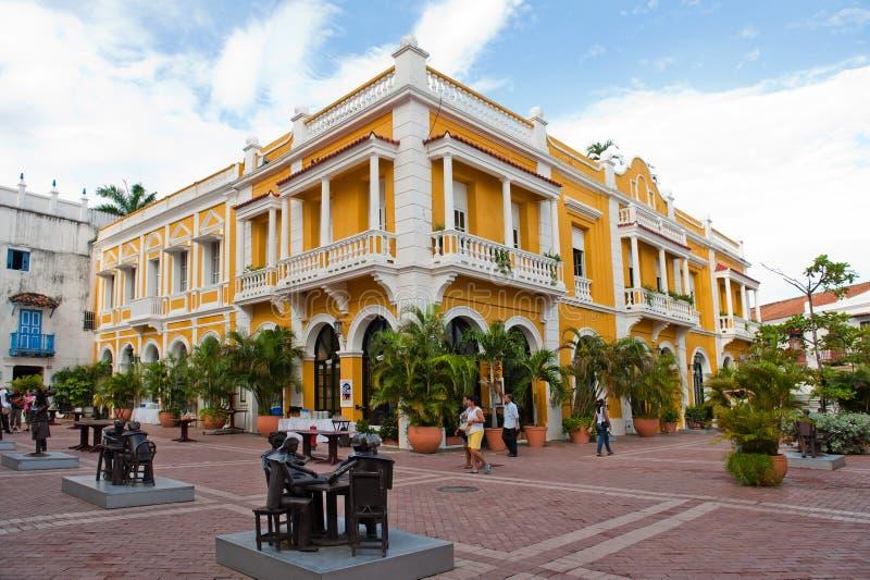 Quadrado em Cartagena, Colômbia fotos de stock
