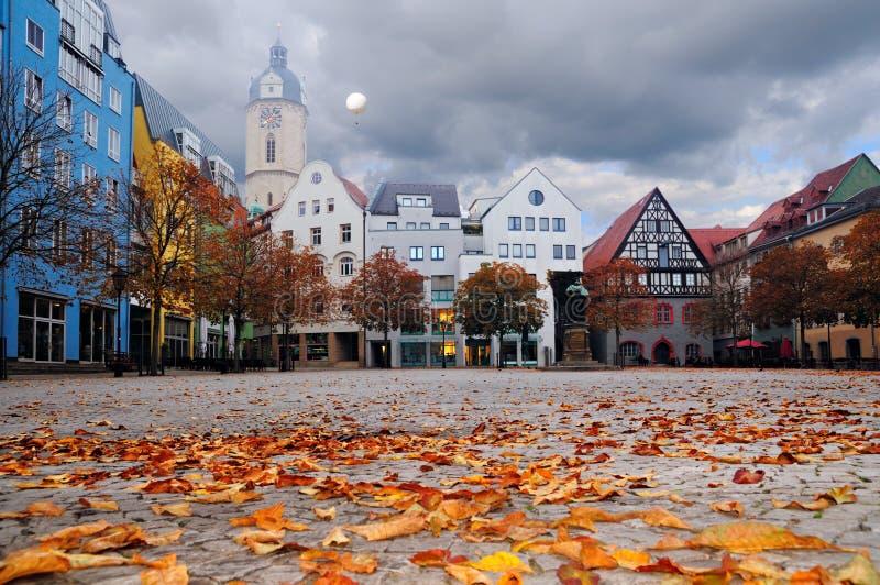 Quadrado em Jena, Thuringia do mercado, Alemanha fotografia de stock royalty free
