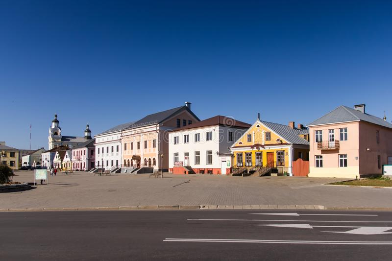 Quadrado em Novogrudok, região de Lenin de Grodno, Bielorrússia imagem de stock