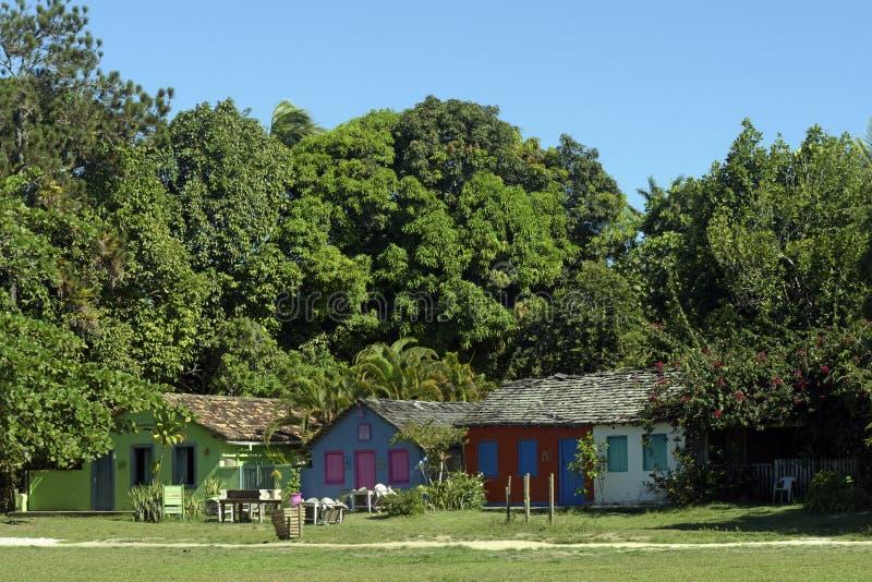 Quadrado, historic central square of Trancoso. Quadrado historic central square of Trancoso district of Porto Seguro Bahia LOCAL: Porto Seguro - BA - Brazil DATE royalty free stock photography