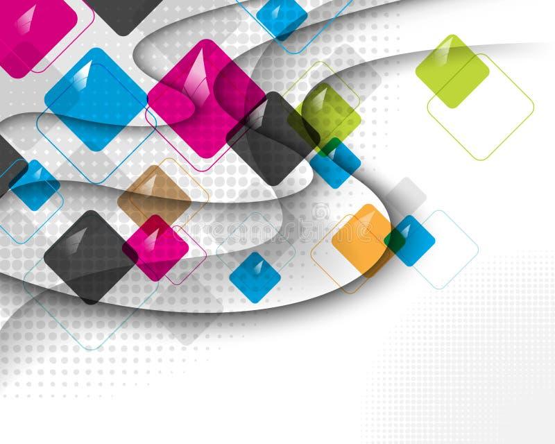 Quadrado multicolor do vetor Eps10 em sombras do enrolamento ilustração royalty free