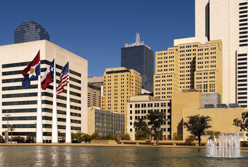 Quadrado pioneiro - Dallas - Texas - EUA fotografia de stock