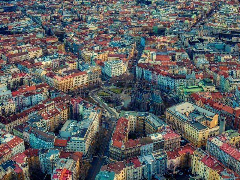 Quadrado Praga checo da paz da mosca do zang?o de Namesti Miru foto de stock royalty free