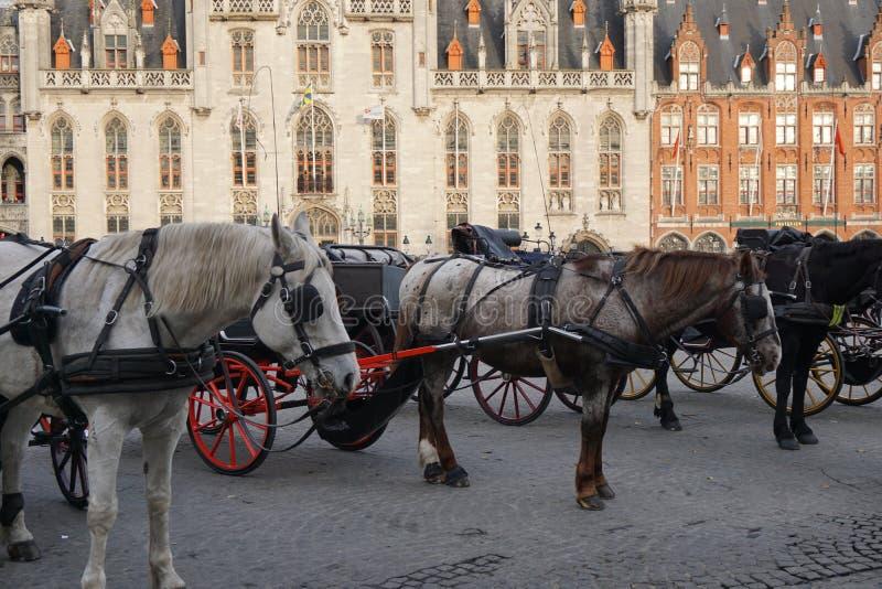 Quadrado principal de Bruges foto de stock royalty free