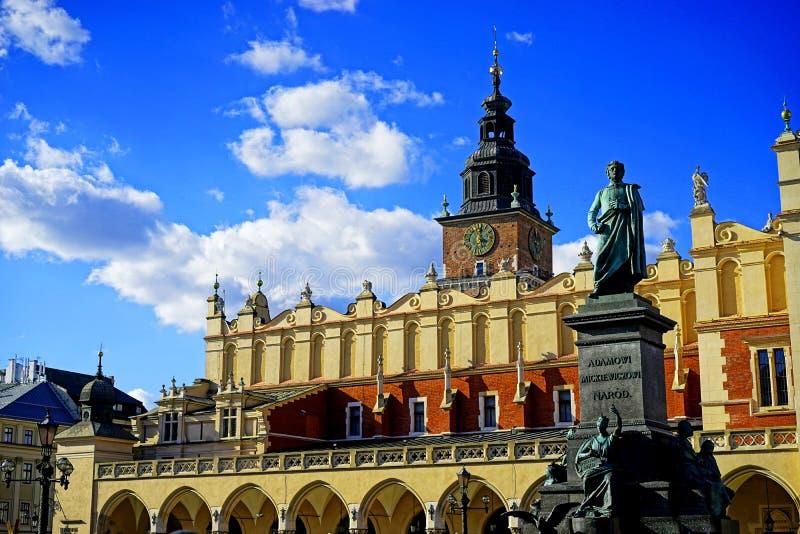 Quadrado principal de Krakow fotografia de stock royalty free