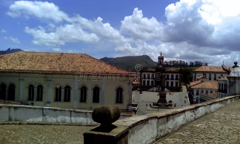 Quadrado principal de Ouro Preto fotografia de stock