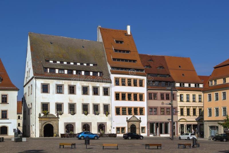 Quadrado principal em Freiberg, Alemanha fotos de stock royalty free