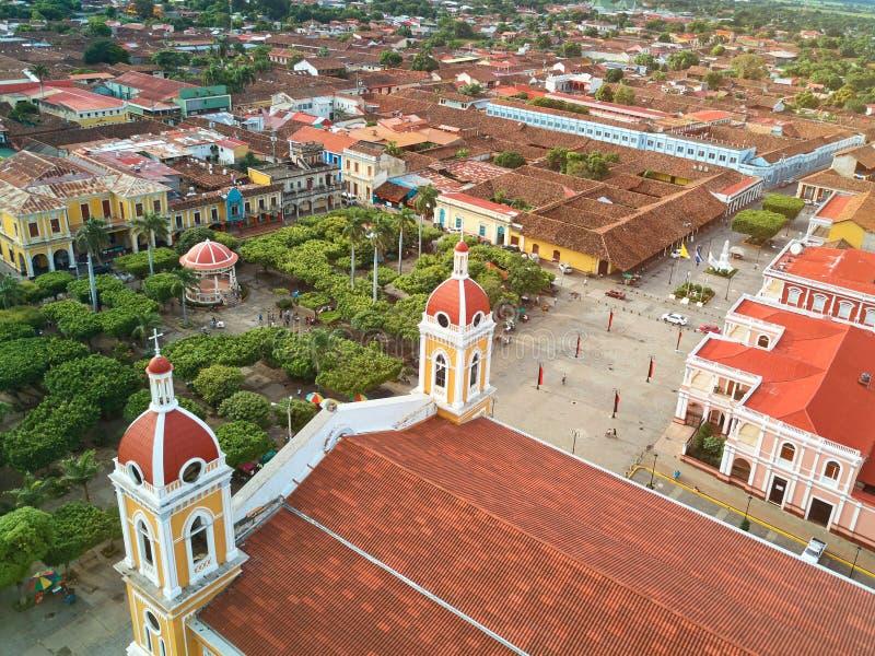 Quadrado principal em Granada Nicarágua fotos de stock royalty free