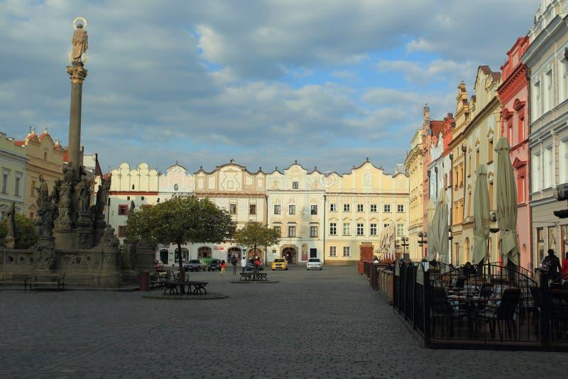Quadrado principal em Pardubice imagens de stock royalty free