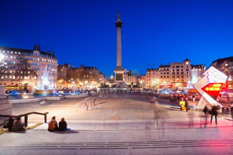 quadrado trafalgar, Londres, Reino Unido. imagens de stock royalty free