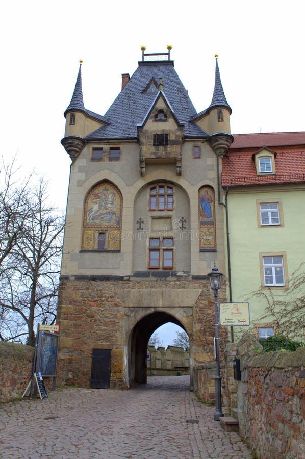 Quadrado velho Alemanha do castelo imagem de stock