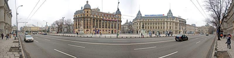 Quadrado velho da construção-universidade de Bucareste foto de stock royalty free