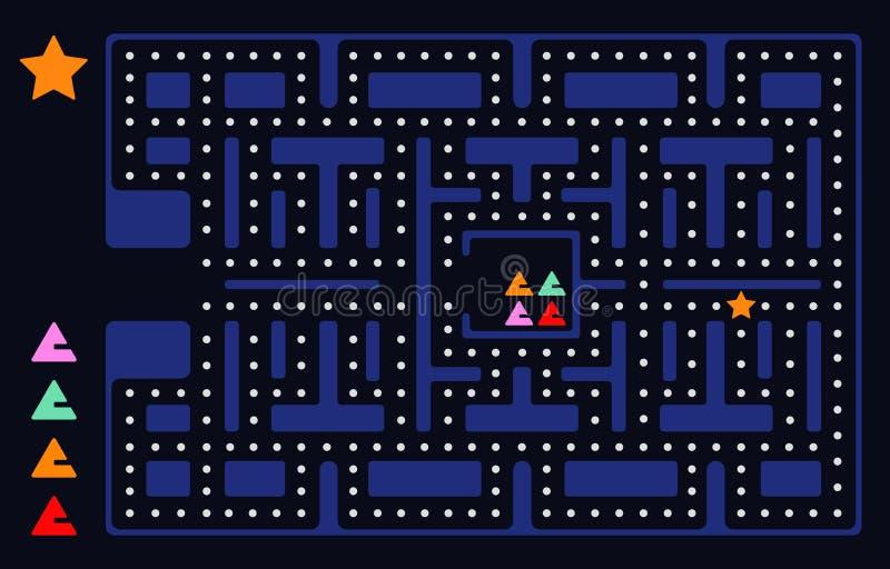Quadrado velho do jogo de vídeo ilustração royalty free