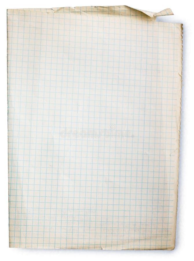 Quadrado velho papel alinhado imagens de stock royalty free