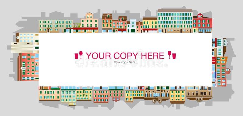 Quadrado Venetian, paisagem italiana foto de stock royalty free