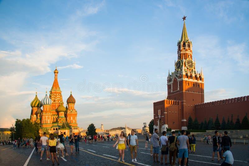 Quadrado vermelho, a área central em Moscou imagem de stock