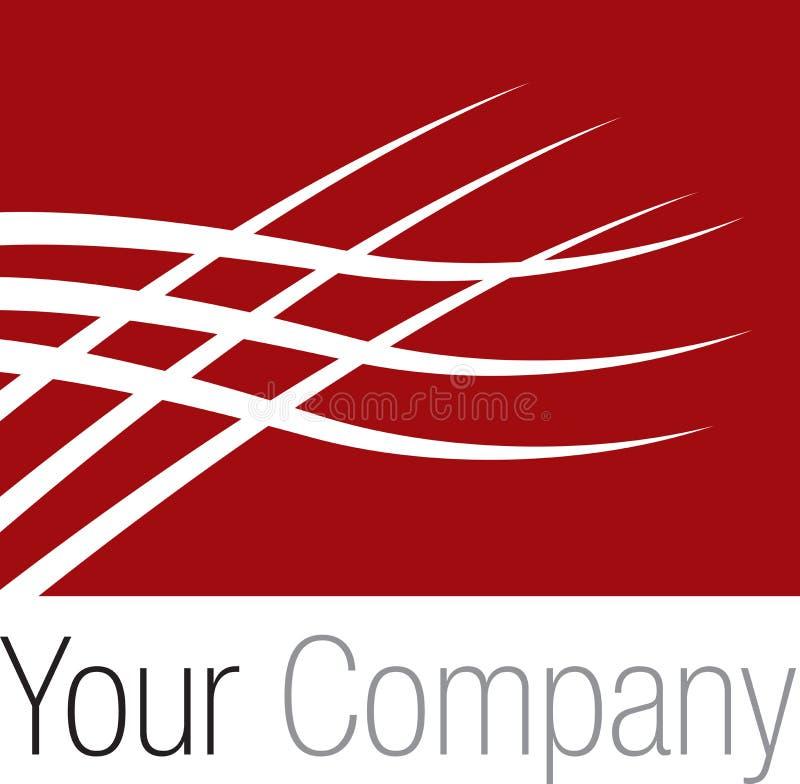 Quadrado vermelho do logotipo ilustração stock