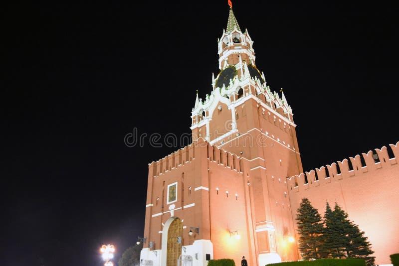 Quadrado vermelho em Moscovo Torre de Spasskaya de Moscovo Kremlin fotos de stock royalty free
