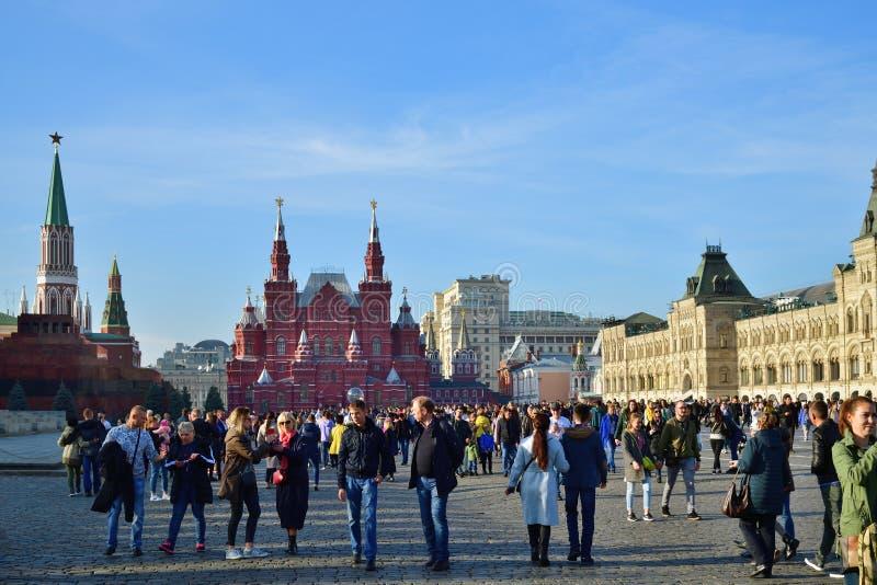 Quadrado vermelho, Moscovo, Rússia imagens de stock royalty free