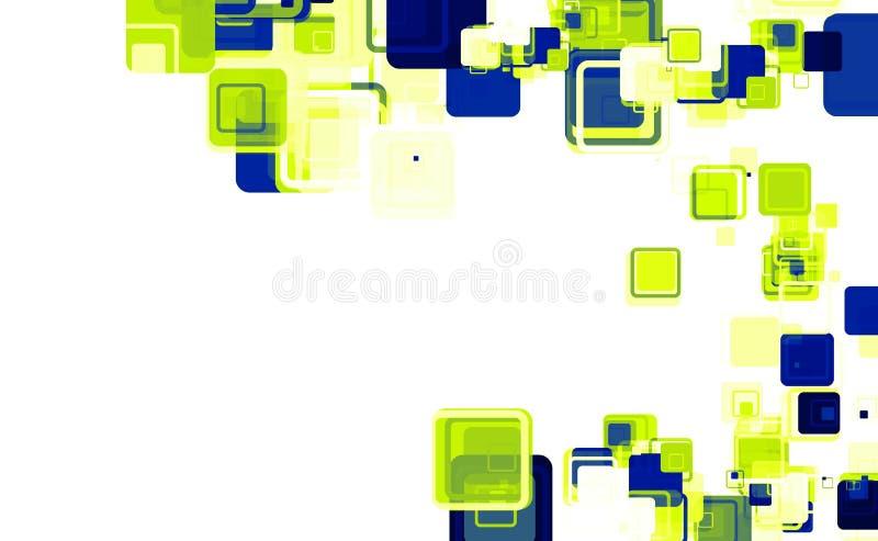 Quadrados abstratos brilhantes ilustração do vetor
