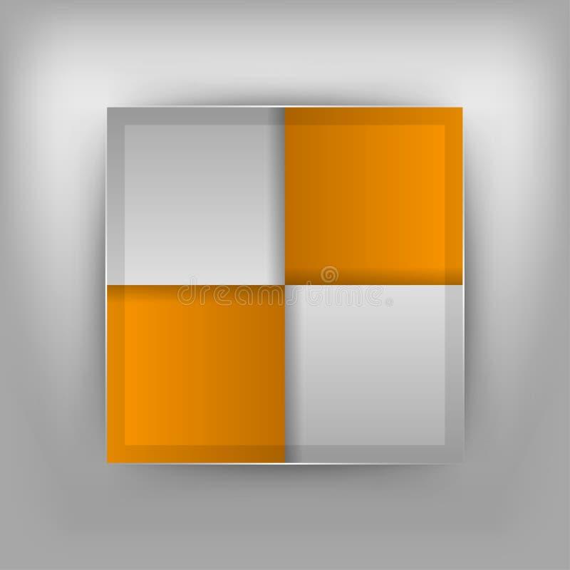 Quadrados alaranjados ilustração stock