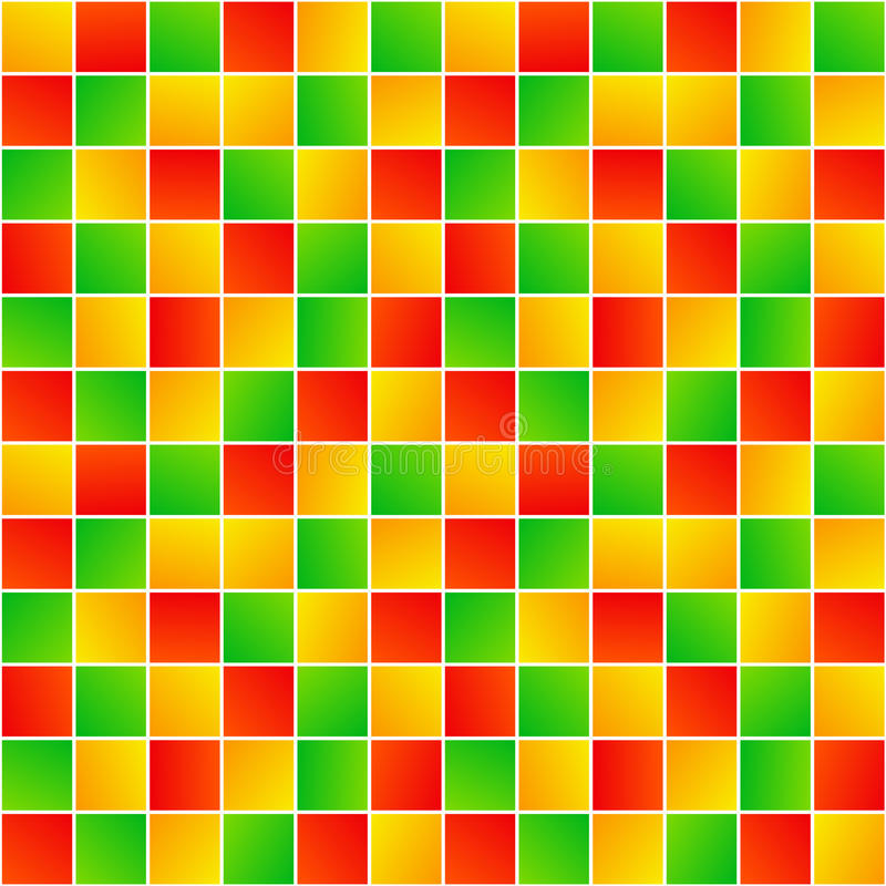 Quadrados aleatórios coloridos teste padrão sem emenda geométrico simples, vetor ilustração royalty free