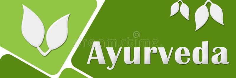 Quadrados arredondados verde de Ayurveda ilustração royalty free