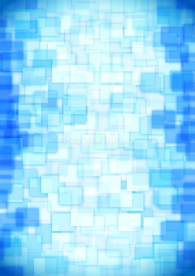 Quadrados azuis de vidro ilustração do vetor