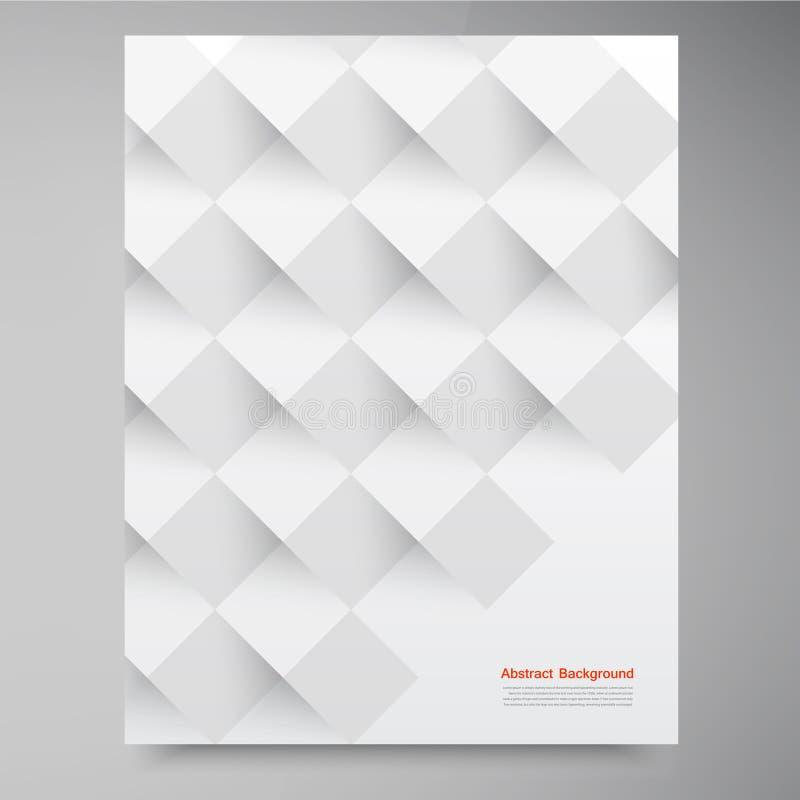 Quadrados brancos do vetor. Backround abstrato ilustração stock