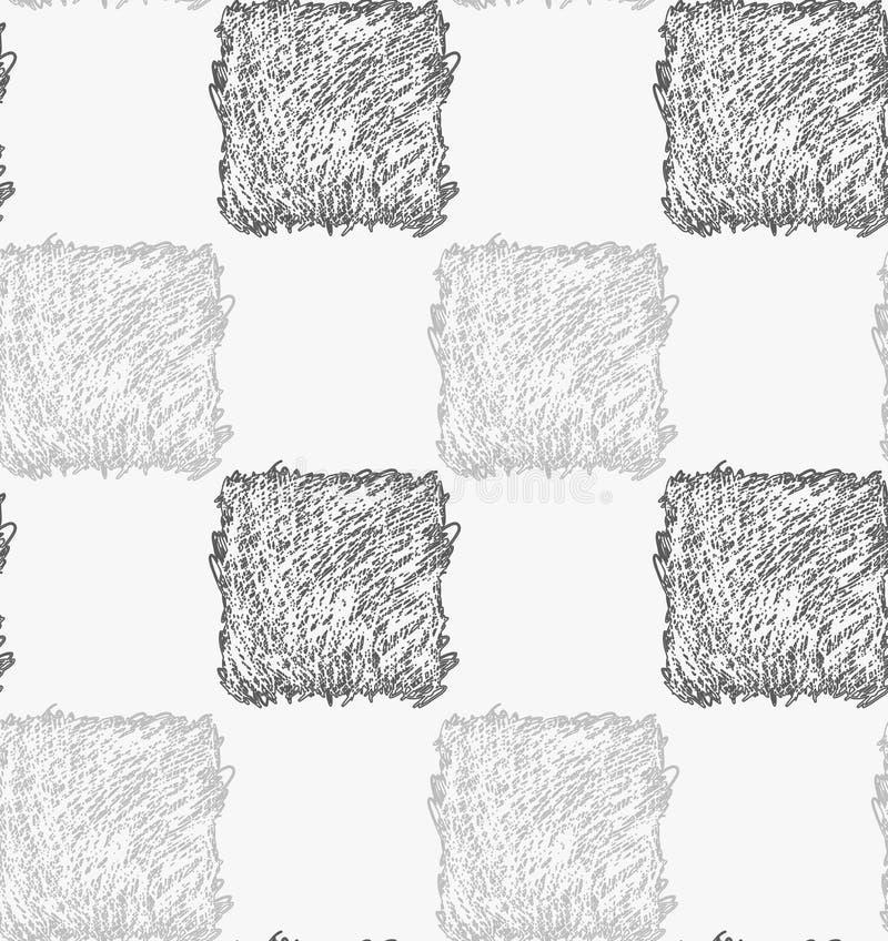 Quadrados cinzentos chocados lápis ilustração royalty free