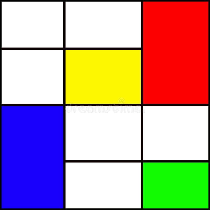 Quadrados coloridos ilustração do vetor
