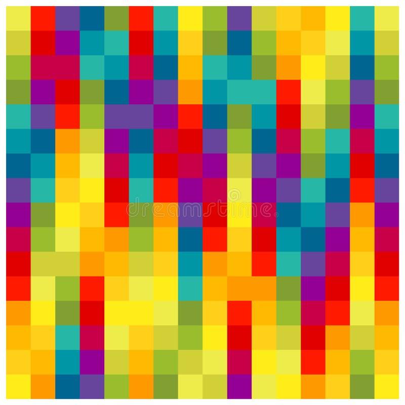Quadrados coloridos ilustração stock