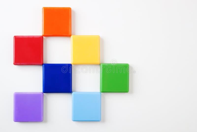 Quadrados coloridos no fundo brilhante #1 fotografia de stock