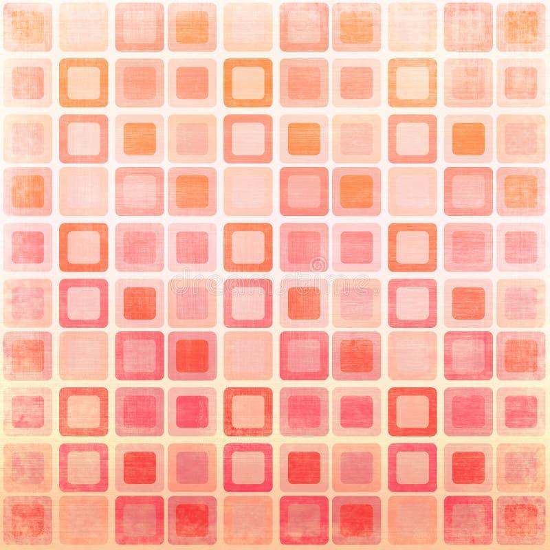 Quadrados cor-de-rosa ilustração do vetor