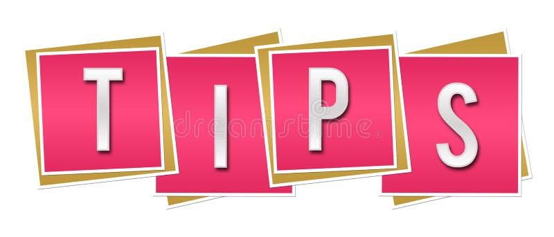 Quadrados cor-de-rosa das pontas ilustração royalty free