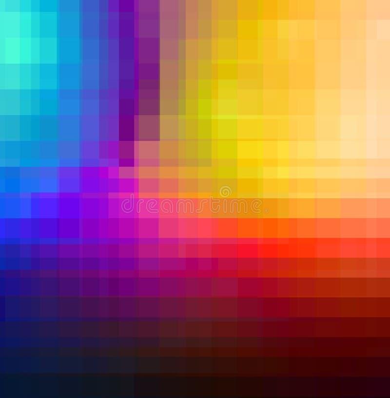 Quadrados da cor ilustração do vetor