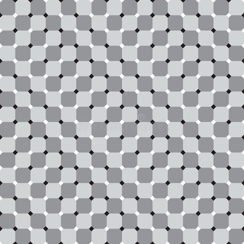 Quadrados de ondulação, vetor preto e branco da ilusão ótica sem emenda ilustração stock