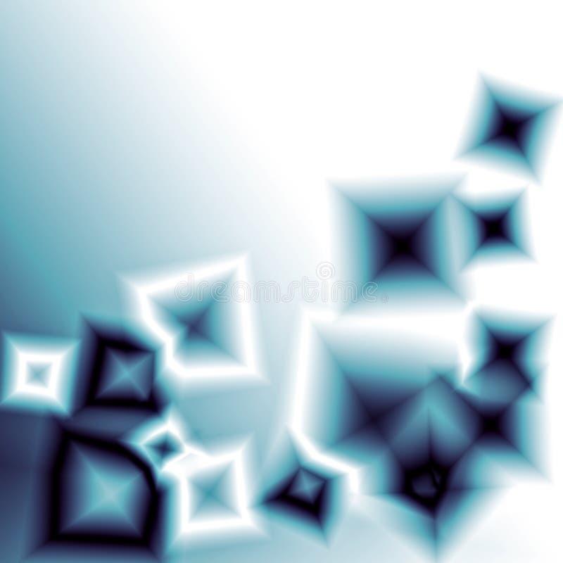 Quadrados de vidro azuis ilustração stock