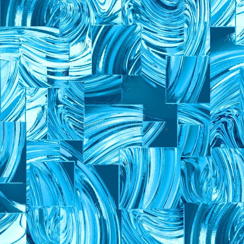 Quadrados de vidro azuis ilustração do vetor